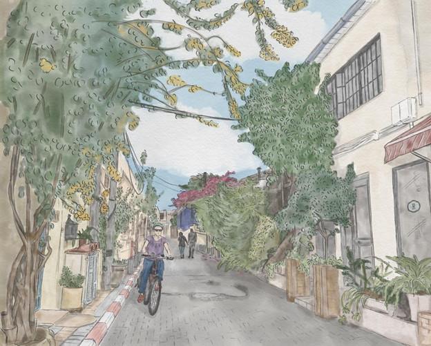 A street in Neve Tzedek, Tel Aviv