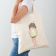 Naive Girl Cotton Tote Bag 2