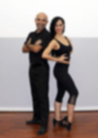 Dance instructors in South Florida, Ricky & Dalia posing