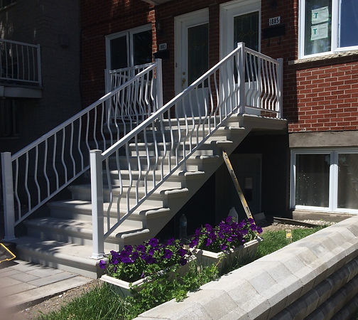 Concrete Stairs Montreal bullnose