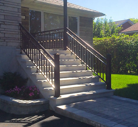 Bullnose concrete rounded steps