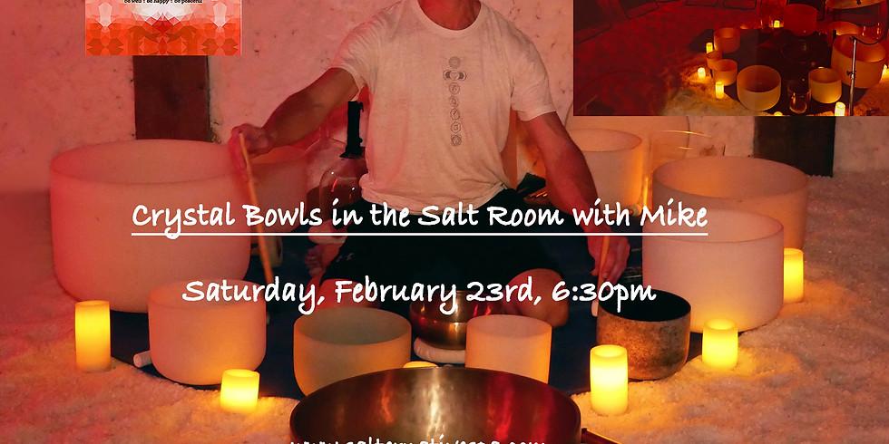 Crystal Bowls in the Salt Room