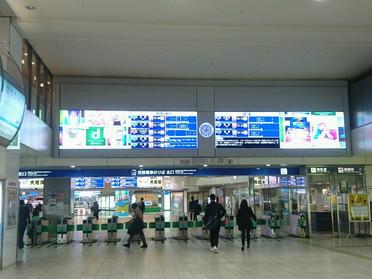 天神センターへの道順(西鉄 福岡駅編)