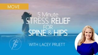 5-Min Yoga: STRESS-RELIEVING For Spine & Hips