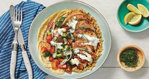 Better Recipe: Calorie Smart Chicken Gyro Couscous Bowl