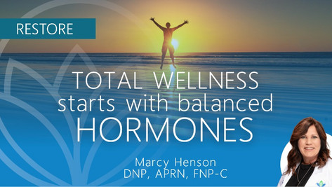 For Total Health + Wellbeing, Balanced Hormones are Vital
