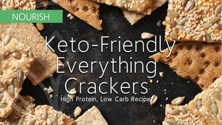 Keto-Friendly, Everything Cracker Recipe