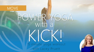 15 Minute Power Yoga with a Kick
