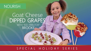Kid-Recipe: Goat Cheese-Dipped Grapes!