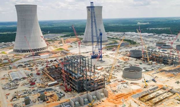 DELAYED: The two new nuclear reactors under construction at Plant Vogtle in Georgia will cost an additional $1.1 billion for the Southern Company. Photo by Georgia Power