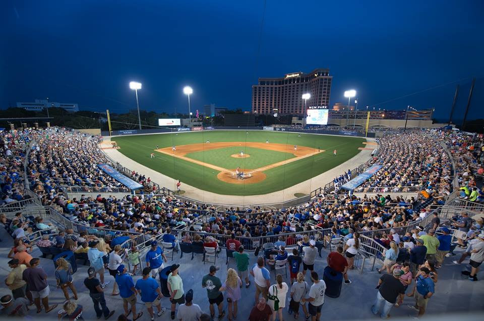 DRAW: Despite a packed house seen here, Biloxi's MGM Park hasn't met attendance goals. Photo by the Biloxi Shuckers