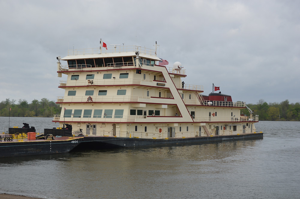HOST: The Mississippi River Commission was conducting its annual high-water inspection tour when it held a meeting in Greenville about the M.V. Mississippi. Photo by Steve Wilson