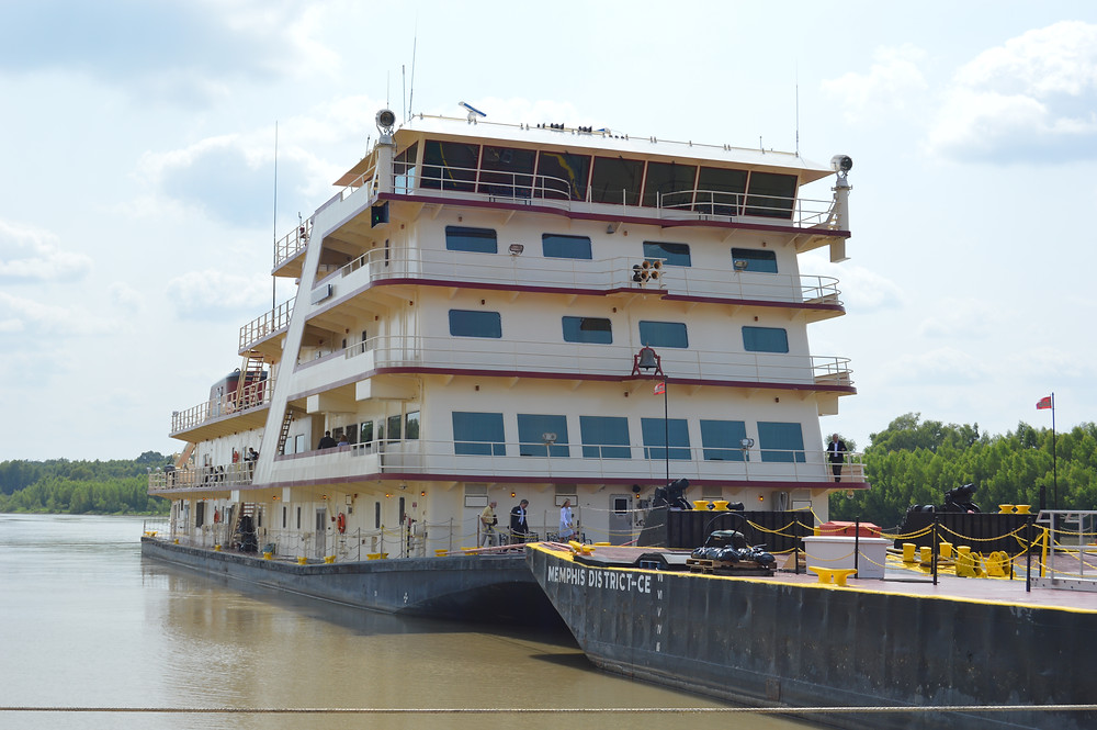 ALL ABOARD: The Mississippi River Commission held a meeting Wednesday on the M.V. Mississippi docked in Vicksburg. Photo by Steve Wilson