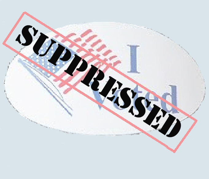 "SUPPRESSED: A popular narrative going into the 2018 mid-term elections is that Republicans are engaged in ""voter suppression."" Photo illustration by Steve Wilson"