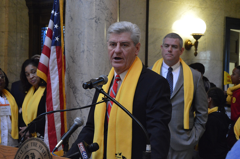 BUDGET: Gov. Phil Bryant wants a teacher pay raise and a new state trooper school in his proposed budget. Photo by Steve Wilson