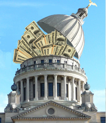 MONEY: The Mississippi Legislature reauthorizes local tourism taxes with little opposition. Photo illustration by Steve Wilson