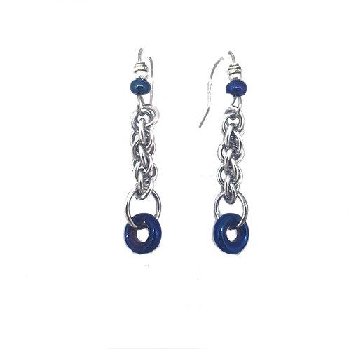 Blue Iris JPL3 drop Earrings