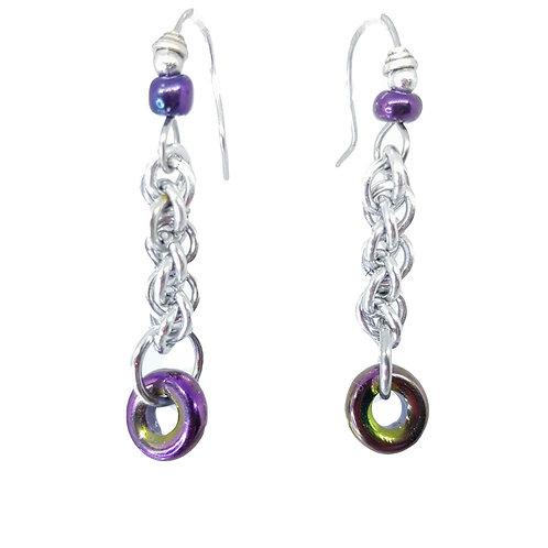 Purple Iris JPL3 drop Earrings