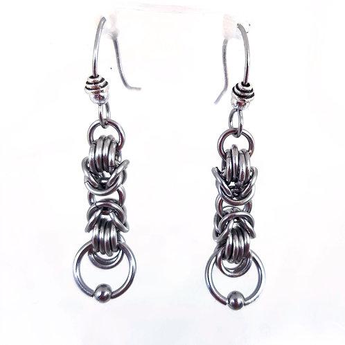 Byzantine Ring drop Earrings
