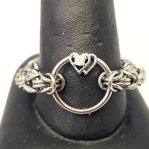 Two Hearts Stainless Steel Ring