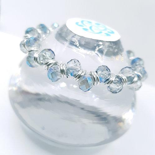Blue Ice Crystal Bracelet