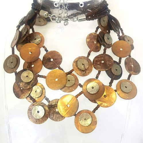 Bronze pau shell necklace