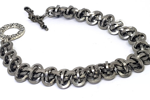 Square Barrel weave Chainmaille Bracelet
