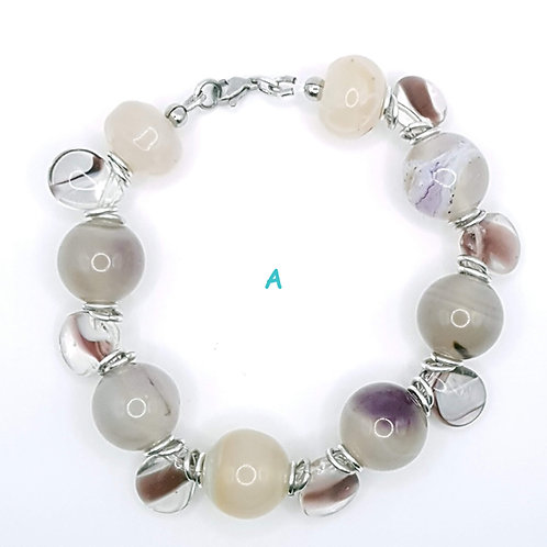 Cloudy Amethyst Bracelet