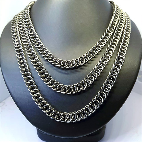 Half Persian 3in1 Chainmaille Two Tone Necklace/Wallet Chain