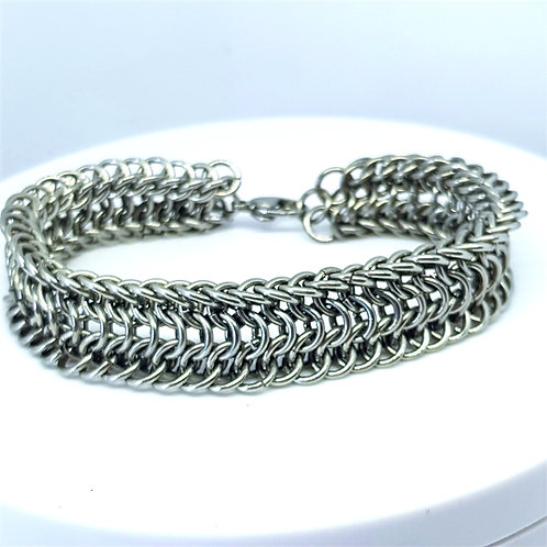 Alligator Back Weave Reversible Bracelet