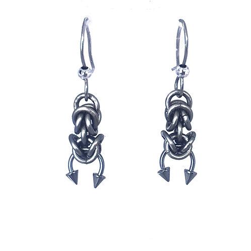 Byzantine Curved Spike Earrings