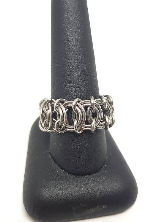 Vertebrae Weave Stainless Steel Ring