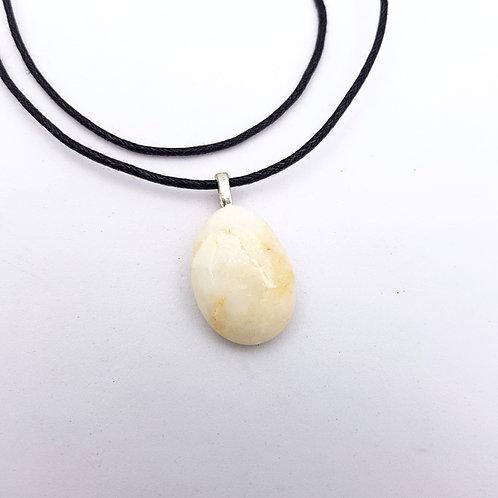 White Agate Pendant