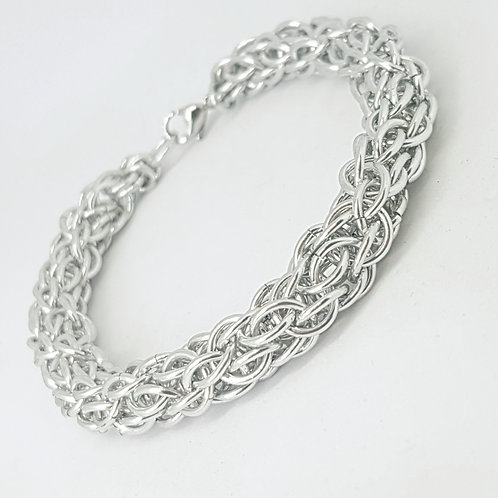 Candy Cane Cord Chainmaille Bracelet