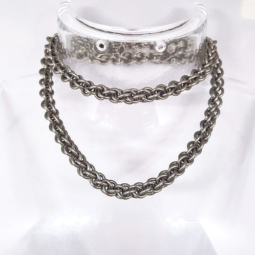 Jens Pind Linkage 3  Necklace / Wallet chain in Stainless Steel