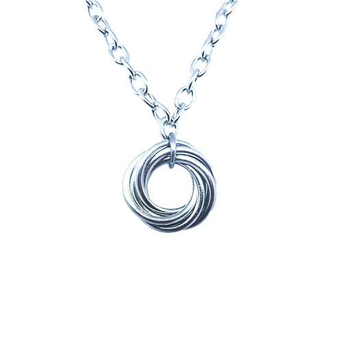 Aluminium Mobius Flower necklace