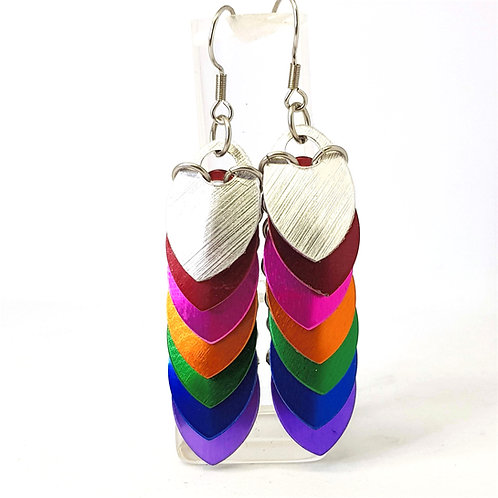 Rainbow Scalemaille Earrings