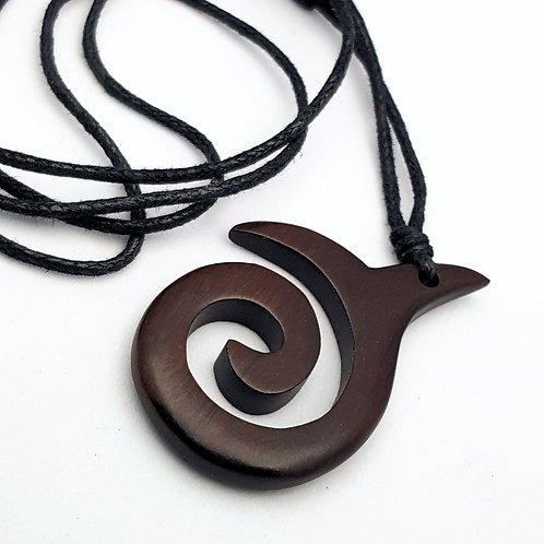 whale fluke wooden Pendant