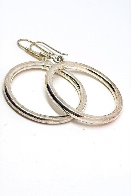 Alpaca silver hoop earrings