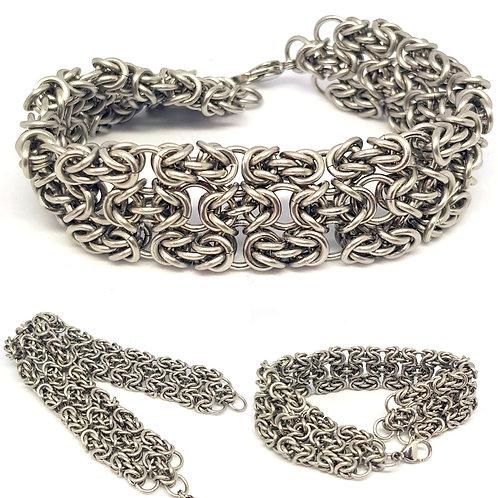 Byzantine Lace Cuff Bracelet