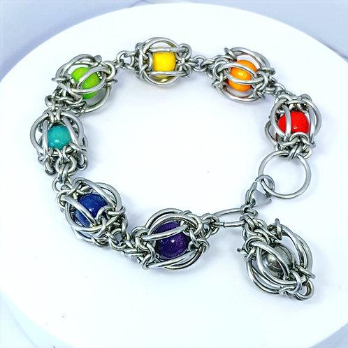 Mermaids Lantern Rainbow Chakra Bracelet