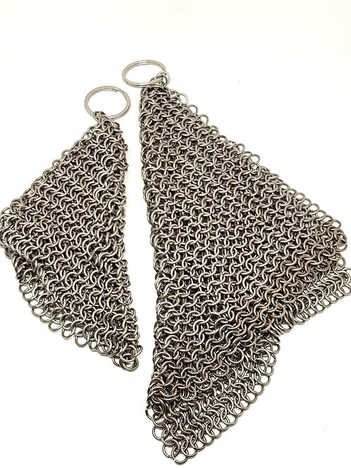 Stainless Pot Scourer - For Cast Iron, Stainless Steel & Hard Anodized Cookware