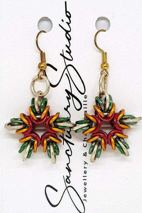 Star of Byzantine Earrings