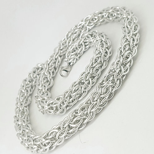 Candy Cane Cord Chainmaille Necklace