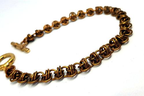 Barrel weave Chainmaille Bracelet