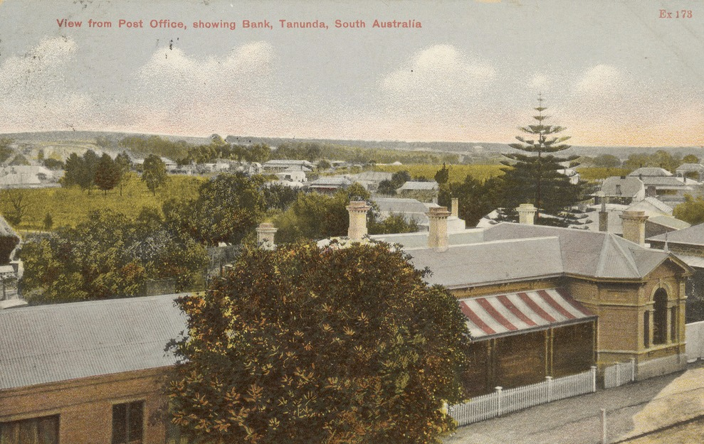 View from Tanunda Post Office 1908