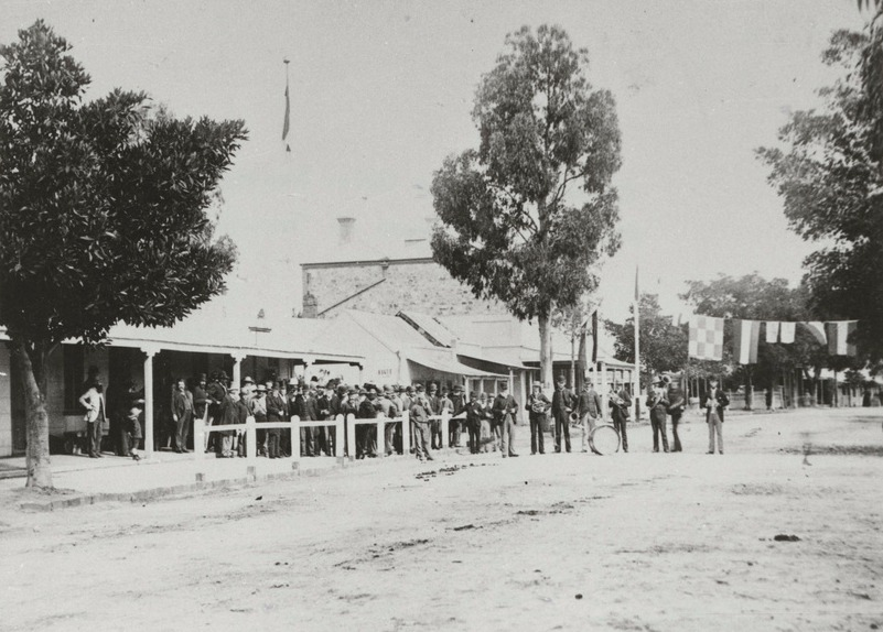Celebration of John Downer's election for Angas at Tanunda Hotel 1910