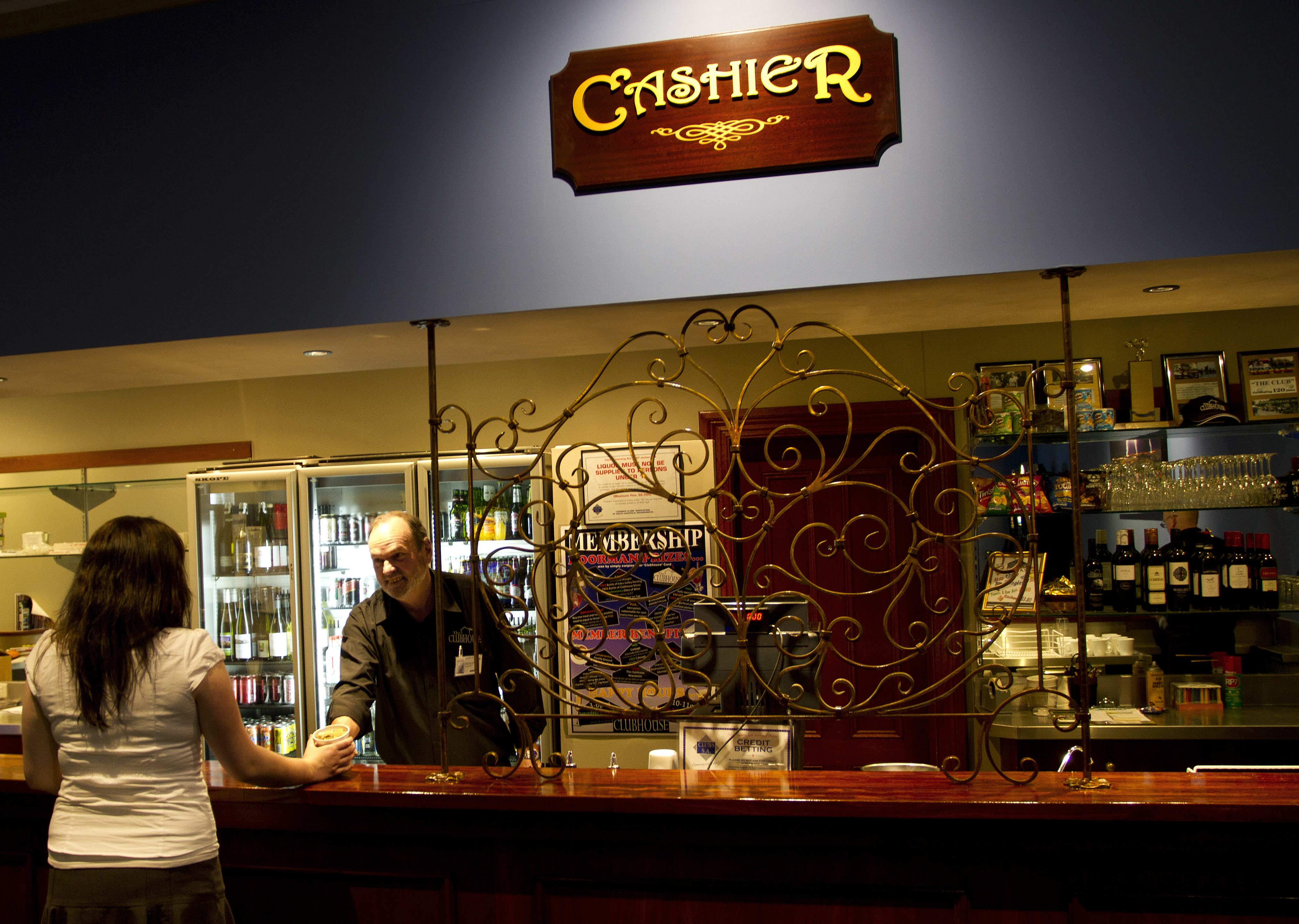 Clubhouse Cashier