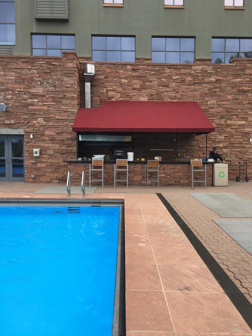 Peaks Resort Pool Kitchen Hood Install