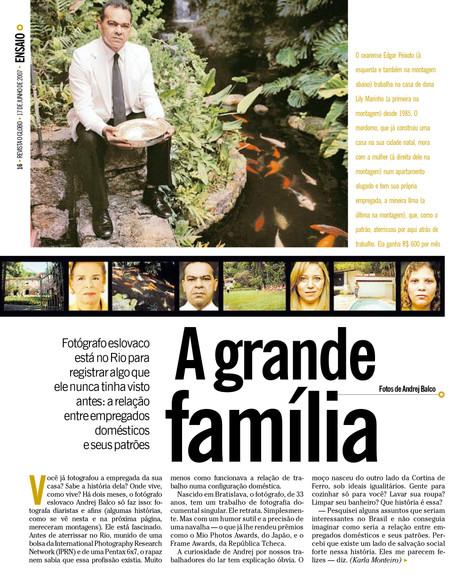 Domésticas in O'GLOBO Magazine